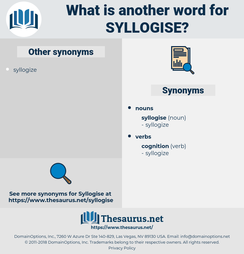 syllogise, synonym syllogise, another word for syllogise, words like syllogise, thesaurus syllogise