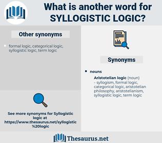 syllogistic logic, synonym syllogistic logic, another word for syllogistic logic, words like syllogistic logic, thesaurus syllogistic logic