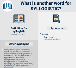 syllogistic, synonym syllogistic, another word for syllogistic, words like syllogistic, thesaurus syllogistic