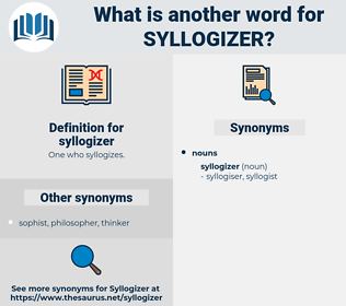 syllogizer, synonym syllogizer, another word for syllogizer, words like syllogizer, thesaurus syllogizer