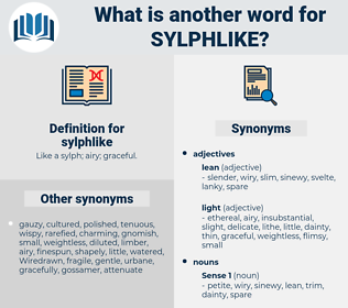 sylphlike, synonym sylphlike, another word for sylphlike, words like sylphlike, thesaurus sylphlike
