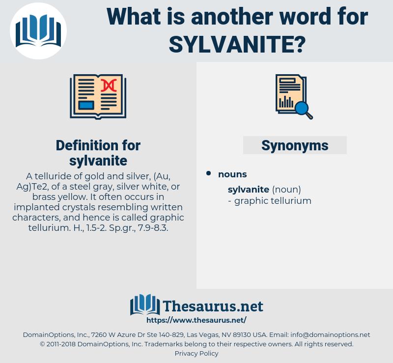 sylvanite, synonym sylvanite, another word for sylvanite, words like sylvanite, thesaurus sylvanite