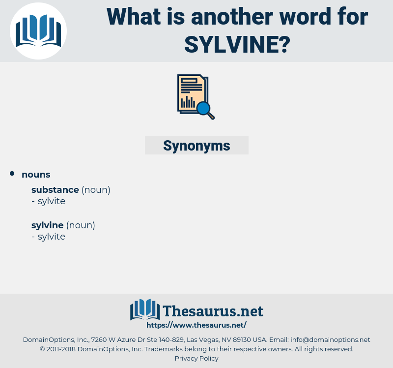 sylvine, synonym sylvine, another word for sylvine, words like sylvine, thesaurus sylvine