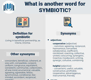 symbiotic, synonym symbiotic, another word for symbiotic, words like symbiotic, thesaurus symbiotic