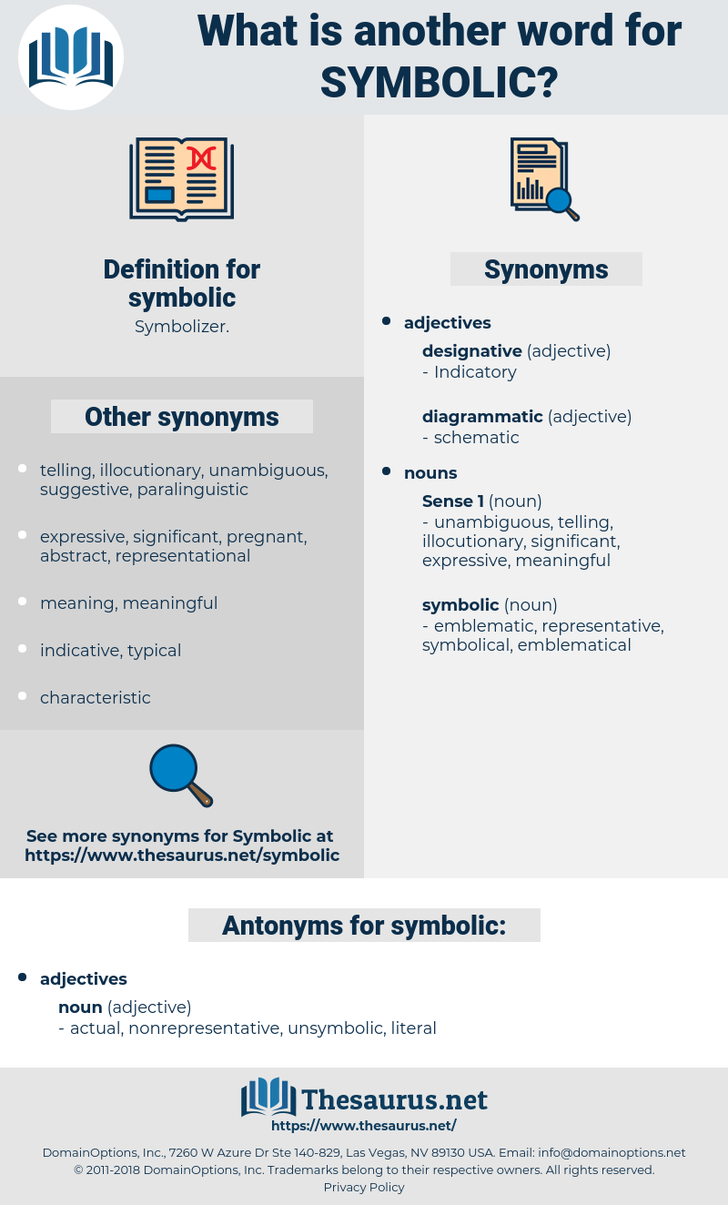 symbolic, synonym symbolic, another word for symbolic, words like symbolic, thesaurus symbolic