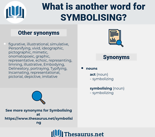 symbolising, synonym symbolising, another word for symbolising, words like symbolising, thesaurus symbolising