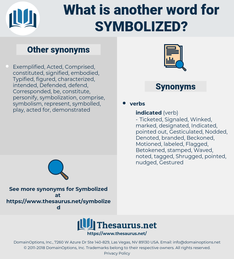 Symbolized, synonym Symbolized, another word for Symbolized, words like Symbolized, thesaurus Symbolized