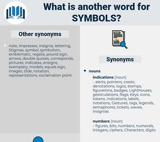 symbols, synonym symbols, another word for symbols, words like symbols, thesaurus symbols