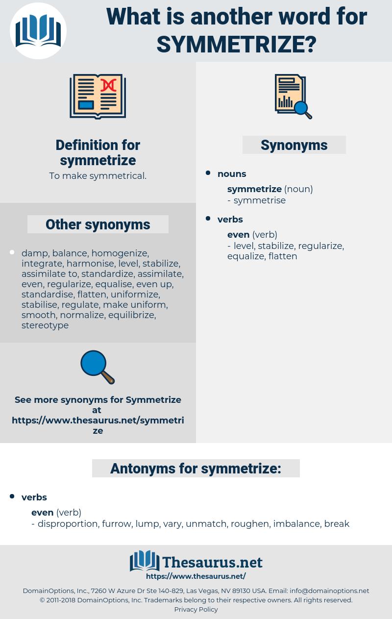 symmetrize, synonym symmetrize, another word for symmetrize, words like symmetrize, thesaurus symmetrize