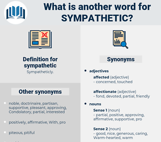sympathetic, synonym sympathetic, another word for sympathetic, words like sympathetic, thesaurus sympathetic