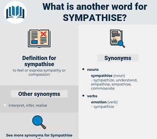 sympathise, synonym sympathise, another word for sympathise, words like sympathise, thesaurus sympathise