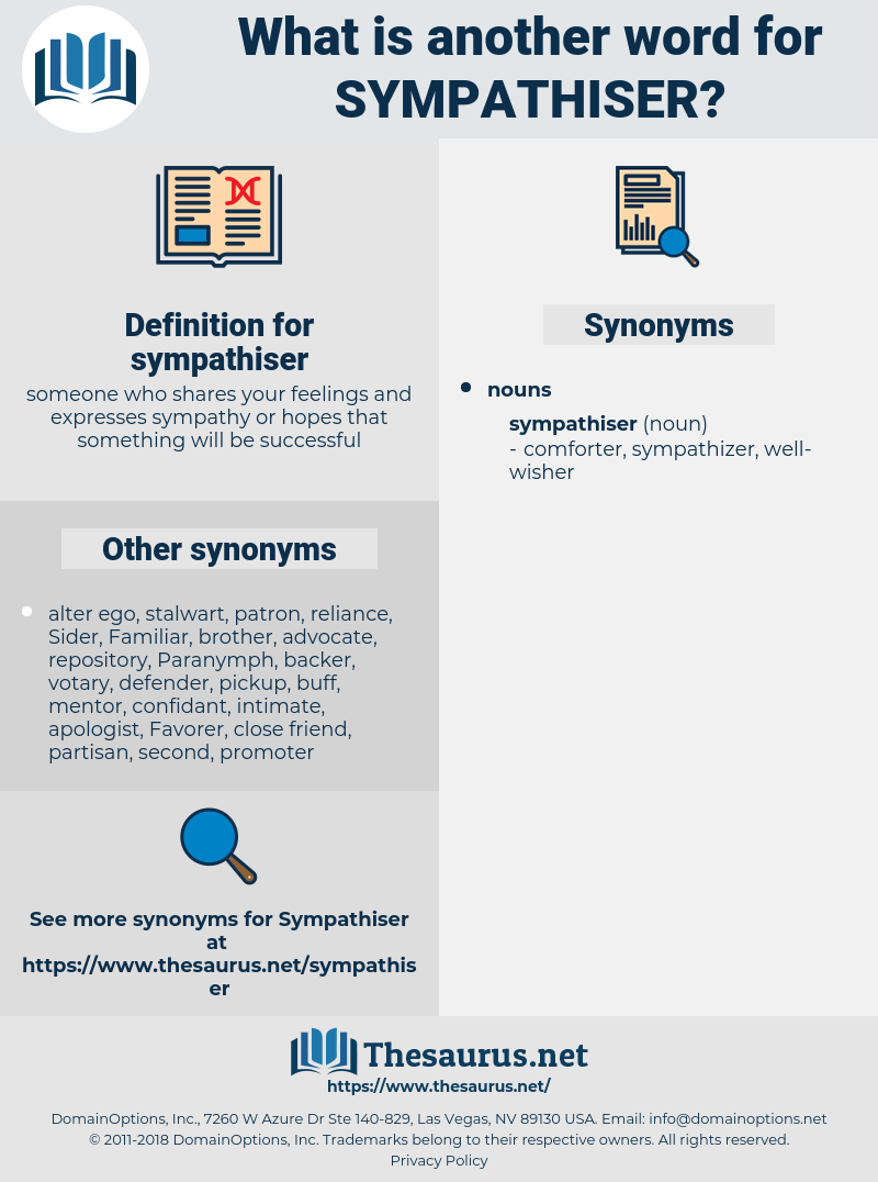 sympathiser, synonym sympathiser, another word for sympathiser, words like sympathiser, thesaurus sympathiser