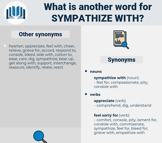 sympathize with, synonym sympathize with, another word for sympathize with, words like sympathize with, thesaurus sympathize with