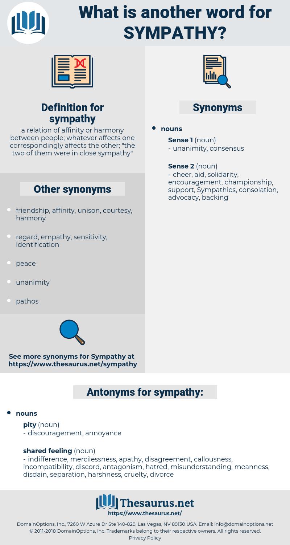 sympathy, synonym sympathy, another word for sympathy, words like sympathy, thesaurus sympathy
