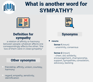 sympathy, synonym sympathy, another word for sympathy, words like sympathy, thesaurus sympathy