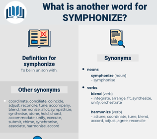 symphonize, synonym symphonize, another word for symphonize, words like symphonize, thesaurus symphonize