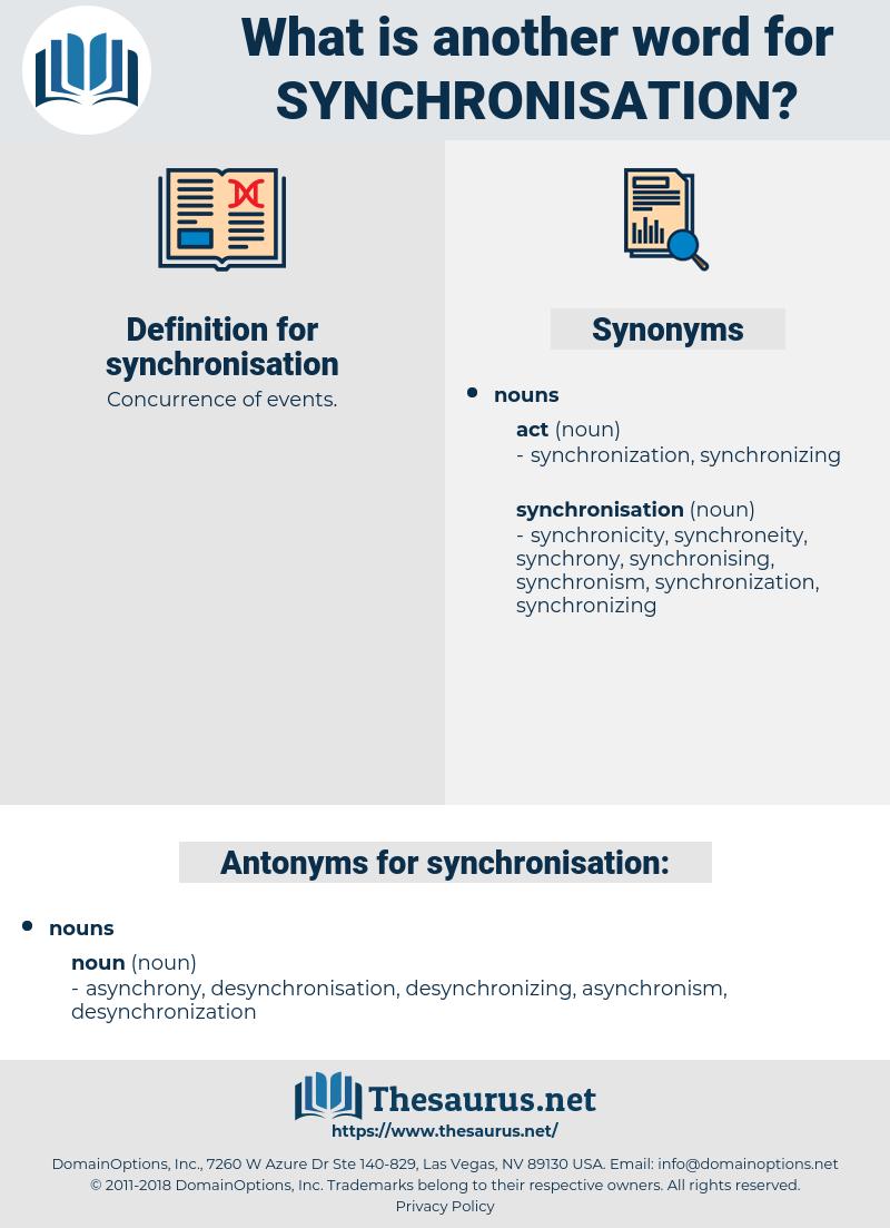 synchronisation, synonym synchronisation, another word for synchronisation, words like synchronisation, thesaurus synchronisation