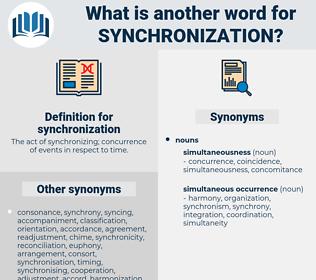 synchronization, synonym synchronization, another word for synchronization, words like synchronization, thesaurus synchronization
