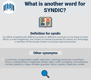 syndic, synonym syndic, another word for syndic, words like syndic, thesaurus syndic