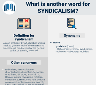 syndicalism, synonym syndicalism, another word for syndicalism, words like syndicalism, thesaurus syndicalism