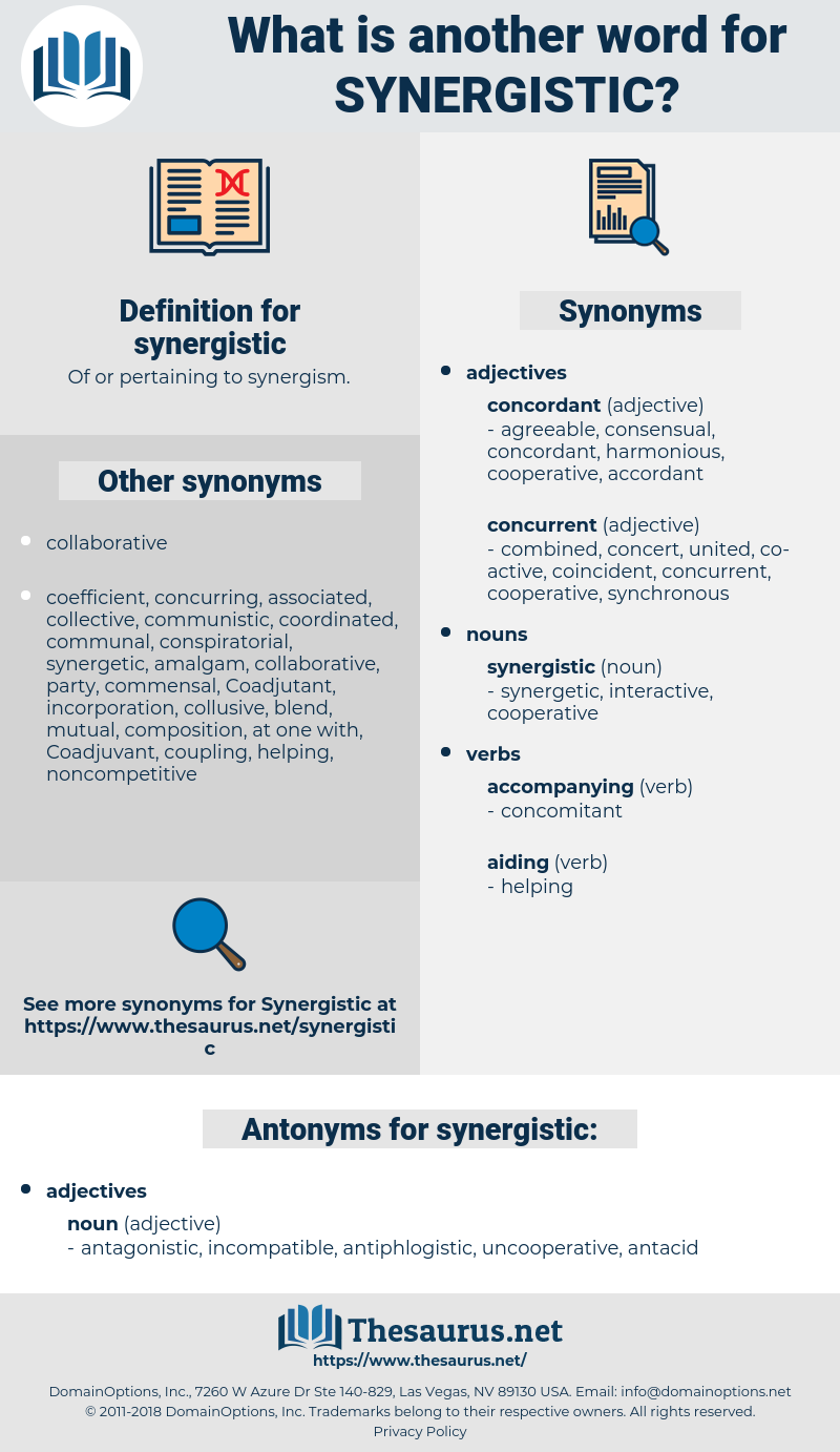 synergistic, synonym synergistic, another word for synergistic, words like synergistic, thesaurus synergistic