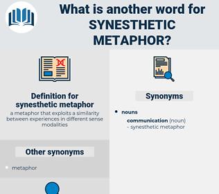 synesthetic metaphor, synonym synesthetic metaphor, another word for synesthetic metaphor, words like synesthetic metaphor, thesaurus synesthetic metaphor