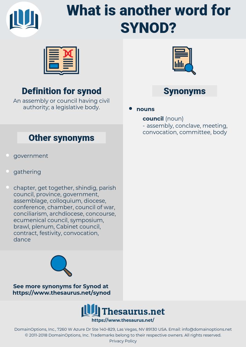 synod, synonym synod, another word for synod, words like synod, thesaurus synod