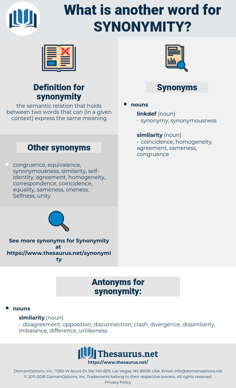 synonymity, synonym synonymity, another word for synonymity, words like synonymity, thesaurus synonymity