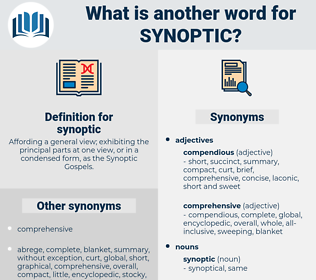 synoptic, synonym synoptic, another word for synoptic, words like synoptic, thesaurus synoptic