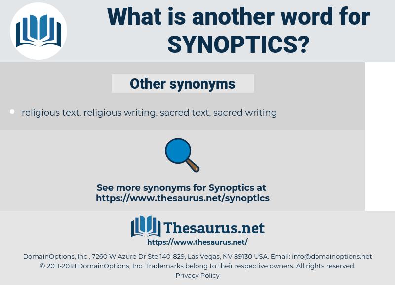 synoptics, synonym synoptics, another word for synoptics, words like synoptics, thesaurus synoptics