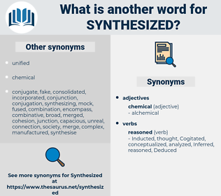 synthesized, synonym synthesized, another word for synthesized, words like synthesized, thesaurus synthesized