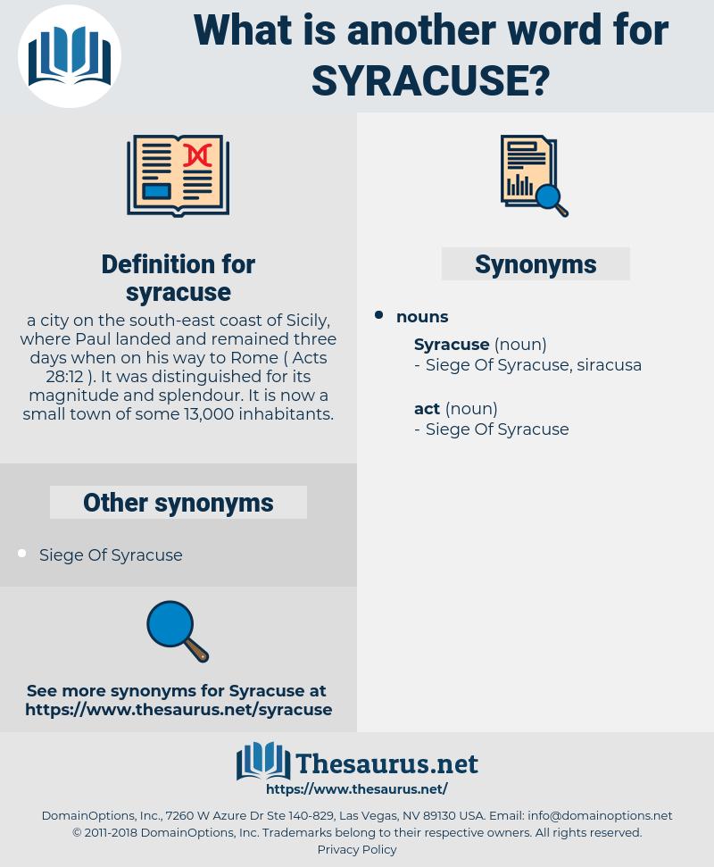 syracuse, synonym syracuse, another word for syracuse, words like syracuse, thesaurus syracuse