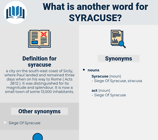 syracuse, synonym syracuse, another word for syracuse, words like syracuse, thesaurus syracuse