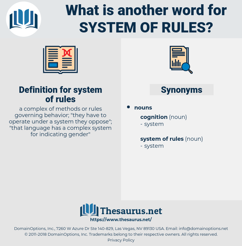system of rules, synonym system of rules, another word for system of rules, words like system of rules, thesaurus system of rules