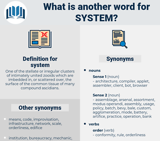 system, synonym system, another word for system, words like system, thesaurus system