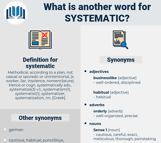 systematic, synonym systematic, another word for systematic, words like systematic, thesaurus systematic