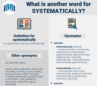 systematically, synonym systematically, another word for systematically, words like systematically, thesaurus systematically