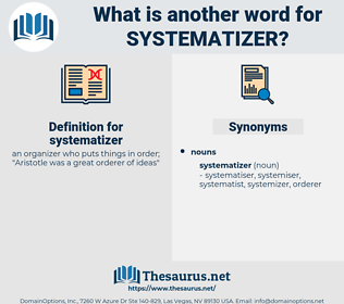 systematizer, synonym systematizer, another word for systematizer, words like systematizer, thesaurus systematizer