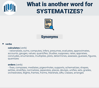 systematizes, synonym systematizes, another word for systematizes, words like systematizes, thesaurus systematizes