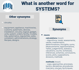 systems, synonym systems, another word for systems, words like systems, thesaurus systems