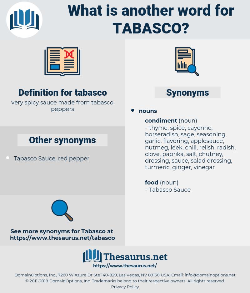 tabasco, synonym tabasco, another word for tabasco, words like tabasco, thesaurus tabasco