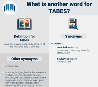 tabes, synonym tabes, another word for tabes, words like tabes, thesaurus tabes