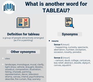 tableau, synonym tableau, another word for tableau, words like tableau, thesaurus tableau