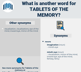 tablets of the memory, synonym tablets of the memory, another word for tablets of the memory, words like tablets of the memory, thesaurus tablets of the memory