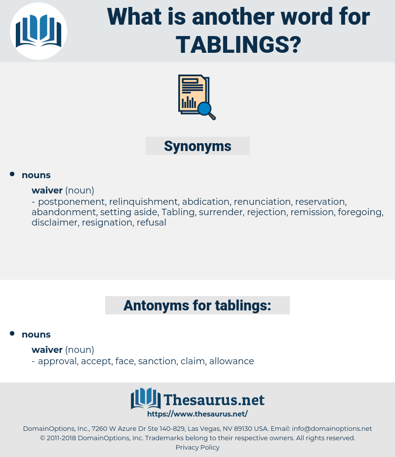 tablings, synonym tablings, another word for tablings, words like tablings, thesaurus tablings