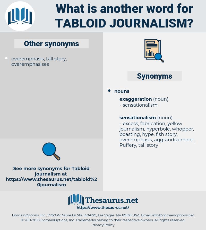 tabloid journalism, synonym tabloid journalism, another word for tabloid journalism, words like tabloid journalism, thesaurus tabloid journalism