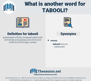 tabooli, synonym tabooli, another word for tabooli, words like tabooli, thesaurus tabooli