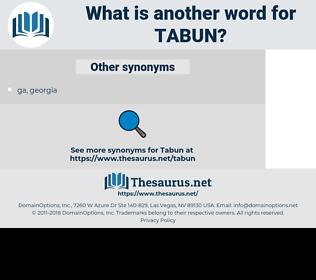 tabun, synonym tabun, another word for tabun, words like tabun, thesaurus tabun