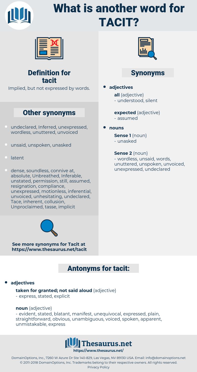 tacit, synonym tacit, another word for tacit, words like tacit, thesaurus tacit