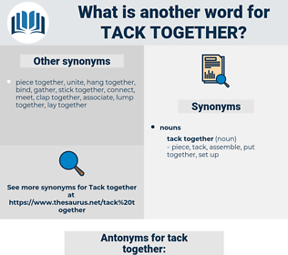 tack together, synonym tack together, another word for tack together, words like tack together, thesaurus tack together